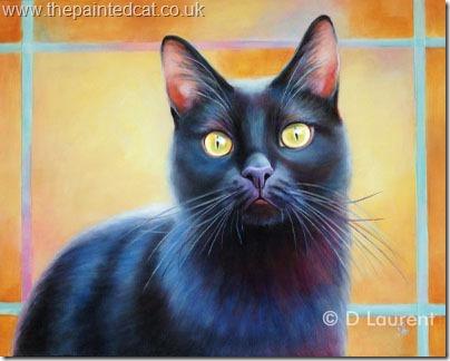 Portrait Of A Black Cat – Misha SOLD