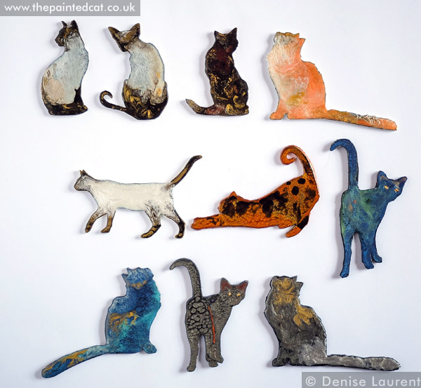 Cat Themed Brooches.