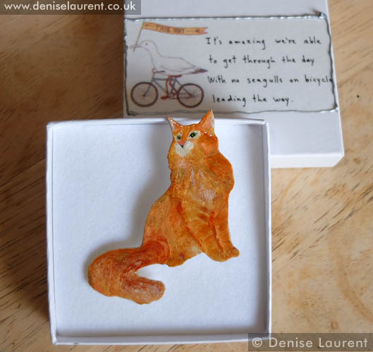 A Red Maine Coon Brooch – Sold