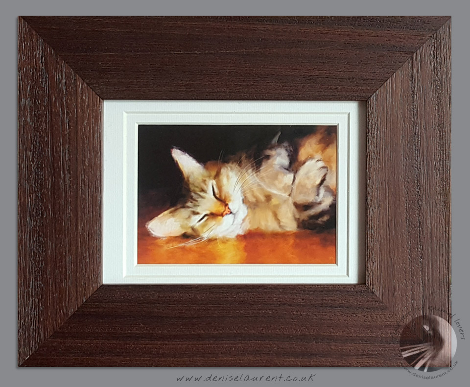 Small Framed Tabby Cat Print