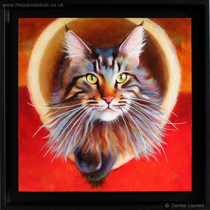 Haruni – A Maine Coon Cat Painting – Sold