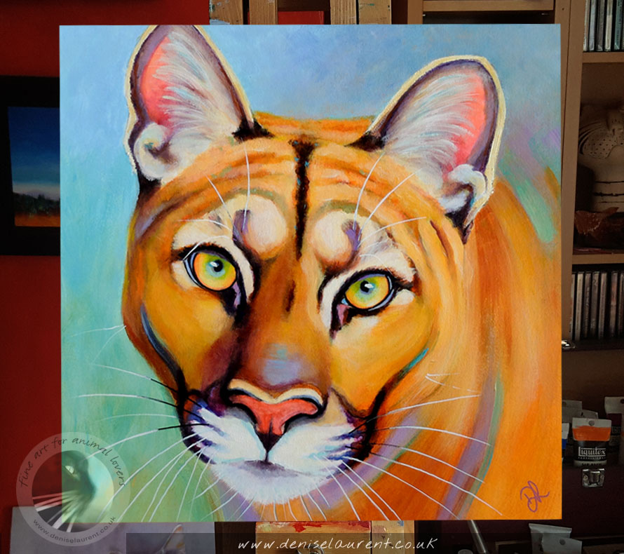 A Colouful Puma Painting