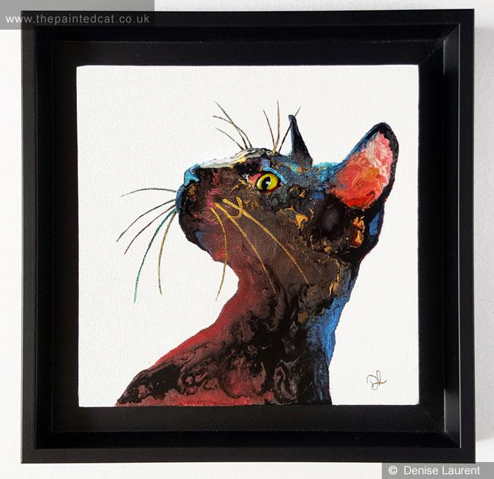 Black Cat In Resin – Sold