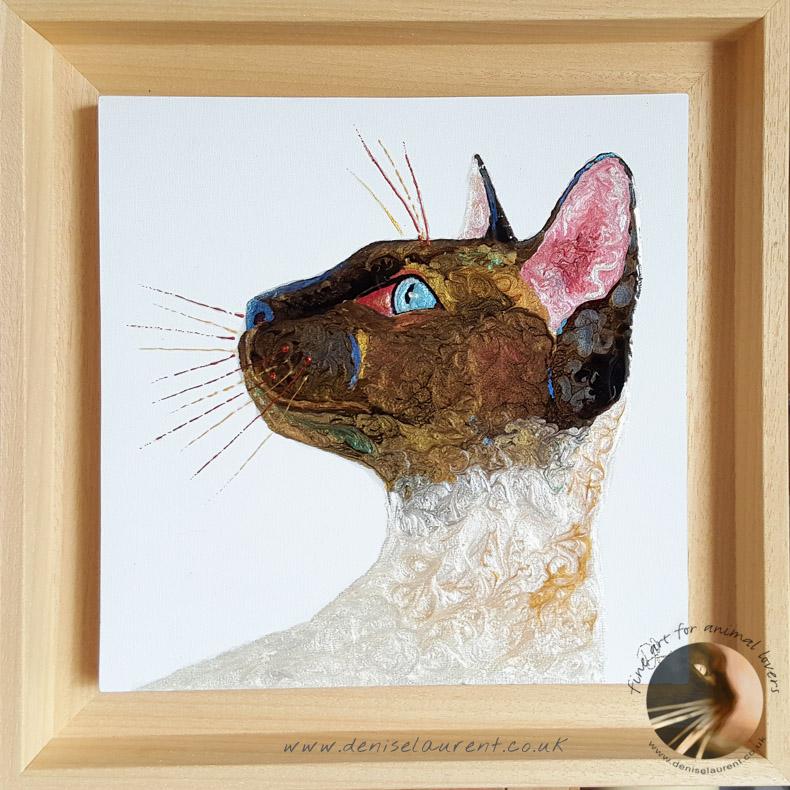 Siamese Cat In Resin – Sold