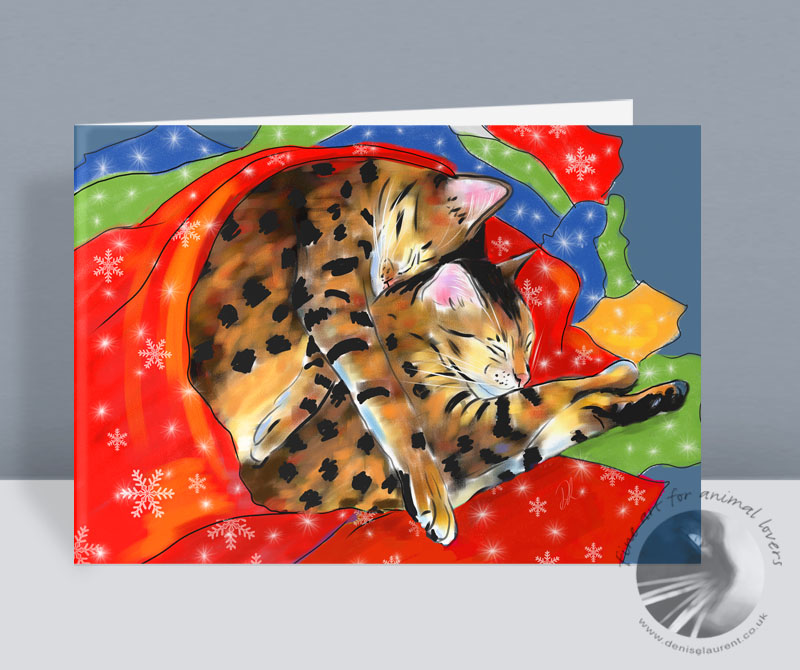 Two New Bengal Christmas Cards